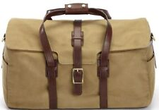 New KORCHMAR L9235 Flynn Waxed Cotton Leather Trim Medium Duffel Bag $395
