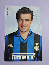 PHOTO CARTOLINA UFFICIALE POSTCARD SOCCER INTER BERTI 1995-96 NEW-FIO