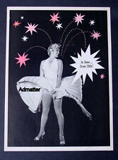 INSANELY RARE 1955 MARILYN MONROE 7 SEVEN YEAR ITCH MOVIE PROMO PIN-UP POSTER AD