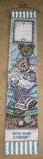 Boyds Bears Home Sweet Home Tapestry Wall Hanging Bellpull