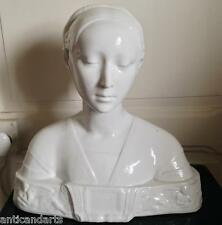 Superbe Buste Porcelaine XIXéme Marque à voir Capodimonte Paris ? Béatrice 37cm