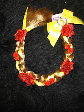 new Disney Princess Belle Beauty and the Beast braid hair insert easy in roses