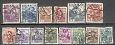 R5191 - AUSTRIA 1934 - LOTTO COSTUMI REGIONALI 14 DIFFERENTI - VEDI FOTO