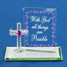 Glass Baron ~ With God all Things are Possible ~ Great Religious Gift ~ NIB
