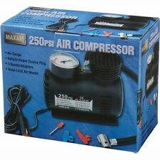 MAXAM 250psi AIR COMPRESSOR Tire Inflator Car Bike Pump Tools AUAC1