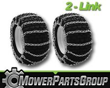 A296 Snow/Mud Tire Chains 4.10/3.50x4 2-Link Blower Thower Pair