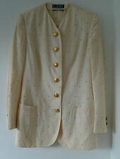 Vintage Gianni Versace Couture cream jacket