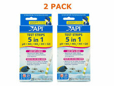 2 PACK (50 Strips Total) API 5 in 1 Aquarium Test Strips NEW