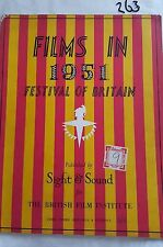 FILMS IN 1951 FESTIVAL OF BRITAIN,SIGHT & SOUND