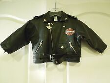 Harley-Davidson Motor Cycles Small Baby Pleather Jacket