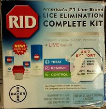 RID Complete Head Lice Elimination  Kit - Shampoo, Comb out   & Home  Spray