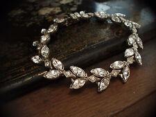 Vintage Navette  Crystal  Bracelet