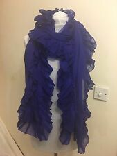 RALPH LAUREN COLLECTION 100% CASHMERE  PASHMINA PETTICOAT RUFFLE SCARF RP £830