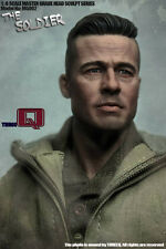 "1/6 Furious Fury Tank Brad Pitt  Head Sculpt For 12"" Male Action Figure Body"
