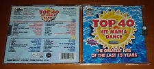 2 CD - TOP 40 HIT MANIA DANCE  - THE GREATEST HITS OF THE LAST 15 YEARS - 2007