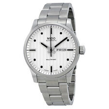 Mido Multifort Automatic White Dial Stainlless Steel Mens Watch-AU