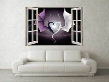 Dragons Scene 3D Full Colour Window Home Wall Art Stickers Mural Decal