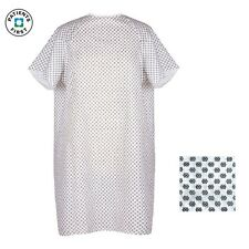 3 PACK MEDICAL EXAM ECONOMY PATIENT GOWNS WHITE W/SNOWFLAKES HOSPITAL HOSPICE