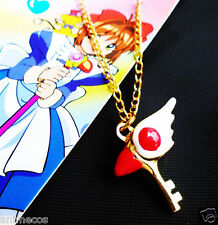Card Captor Sakura Kinomoto Sealing Wand Key Metal Necklace Pendant Cosplay