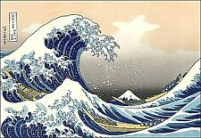 "Classic 2x3"" Hokusai Japanese Wave sticker / decal. Surf, Fuji, ocean art print."