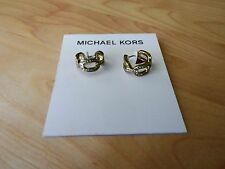 Michael Kors Authentic Gold Tone Chain Link Earrings MSRP $115