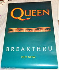 QUEEN - Breakthru 1989 EMI Uk billboard big promo poster single by Miracle lp