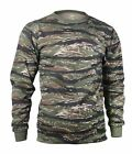 Rothco Tiger Stripe Camo MENS Long Sleeve Tactical Military T-Shirt S TO 4X
