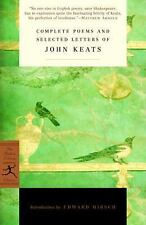Modern Library Classics: Complete Poems and Selected Letters of John Keats by...