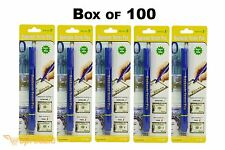 Box of 100 Counterfeit Pen Money Detector Marker Fake Dollar Bill Currency Blue