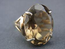 schöner alter Ring 925/-Silber leicht vergoldet Rauchquarz