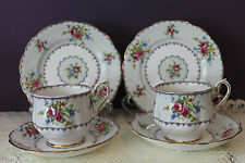 2 SETS OF ROYAL ALBERT  ENGLAND TEACUP SAUCER AND DESSERT PLATE 'PETIT POINT'