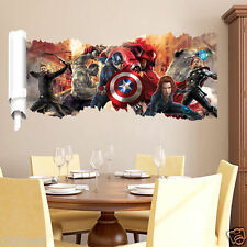 DC Comics Marvel The Avengers Team Hulk Decal Wall Sticker Decor Art Wallpaper