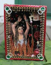Anima Sola - Lonely Soul, Reliquary Retablo Hand Made Oaxaca, Mexican Folk Art