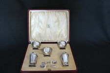 London Mappin & Webb Sterling Silver Set - Salt and Pepper 1900-1940 (#412)