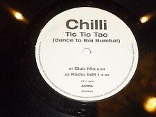 """CHILLI - Tic Tic Tic (Dance to Boi Bumba!) - UK 2-track 12"""" single DJ PROMO"""