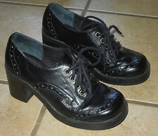 Women's Mary Jane MUDD School Girl Platform Lace Up Shoes Size 6