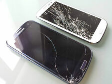 ★★★ 2 x Samsung Galaxy S3 ~ GT-I9300 ~ Blue & White ~ mit Display Schaden ★★★