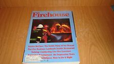 Firehouse Magazine- March 1988 -Seattle Pier FIre- live fire training VG