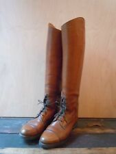Vintage Dehner english riding patrol biker boots custom made leather 34579