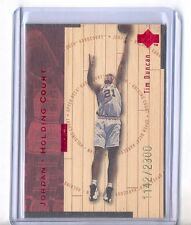 1998 UPPER DECK HARDCOURT HOLDING COURT #J24 MICHAEL JORDAN & TIM DUNCAN /2300