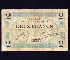 Martinique FRENCH ANTILLES 2  FRANCS  1915  P-11
