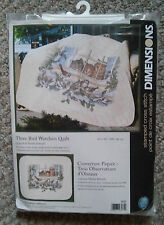 "Dimensions Stamped Cross Stitch Kit Three Bird Watchers Quilt #3231 34"" x 43"""
