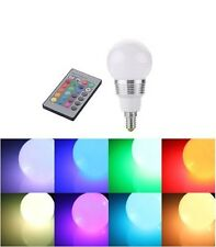 3W 230V E14 RGB color LED Bulb Spotlight changing Remote Control UK SELLER New