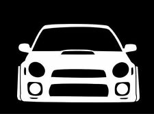 Subaru STI White Badge Emblem Sticker For Wrx Brz Bug Eye Impreza Forester