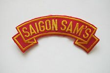 #6704 SAIGON SAM'S Word Tag Embroidery Sew On Applique Patch