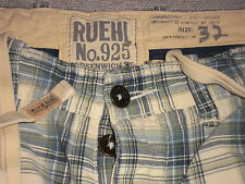 RUEHL SHORTS BY ABERCROMBIE & FITCH SHORTS CHINO TIE WAIST BUTTON FLY MEN'S 32