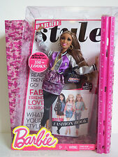 Barbie STYLE Doll NIKKI with lots of  Accessories 10 page Fashion Book! -Ages 5+