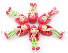 Lot 6 Girls Kids Baby Gift Toys 3'' Strawberry Shortcake 2008 Mini Dolls Figures