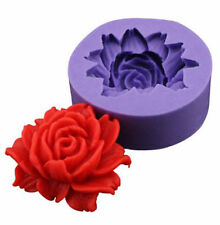 Rose Flower DIY 3D Fondant Cake Chocolate Sugarcraft Mold Cutter Silicone Tools