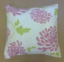 "NEW 16"" Retro Bright Pink & Lime Green Floral Funky Cushion Cover"